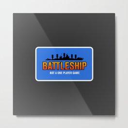 1 Player Battleship Metal Print