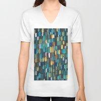 klimt V-neck T-shirts featuring New Klimt  by Angela Capacchione