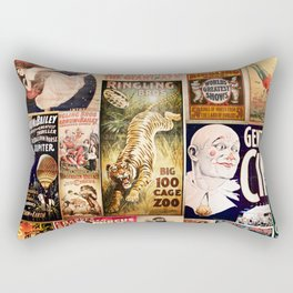 Circus Collage Rectangular Pillow