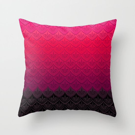 ELENA PATTERN - FLAMENCO VERSION Throw Pillow