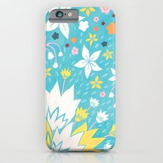 Aqua Lilies iPhone 6s Slim Case