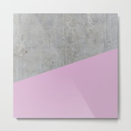 Concrete with Pink Lavender Color Metal Print