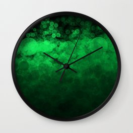 Green Spotted Wall Clock