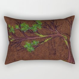 Western juniper tree portrait Rectangular Pillow