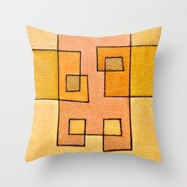 Protoglifo 04 'yellow hugging pink' Throw Pillow