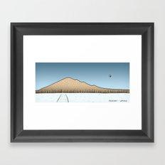 Pyhajarvi - Finnish Lapland - DAY Framed Art Print