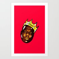 biggie Art Prints featuring Biggie by Sulaiman aldaham