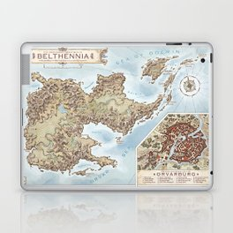 Belthennia - a map of its Independent Territories Laptop & iPad Skin