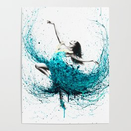 Teal Dancer Poster