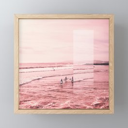 Pink Coast Framed Mini Art Print