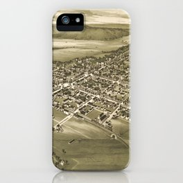 Vintage Pictorial Map of Gettysburg PA (1888) iPhone Case