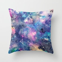 Cosmos Watercolor Throw Pillow