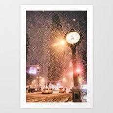 New York City Snow Art Print