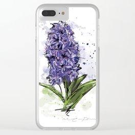 Hyacinth Clear iPhone Case