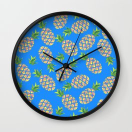 Tropical Pineapple Sunrise Wall Clock