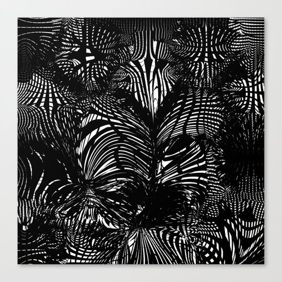 black stripes chaos Canvas Print