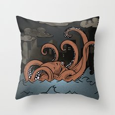 Octopi Movement  Throw Pillow