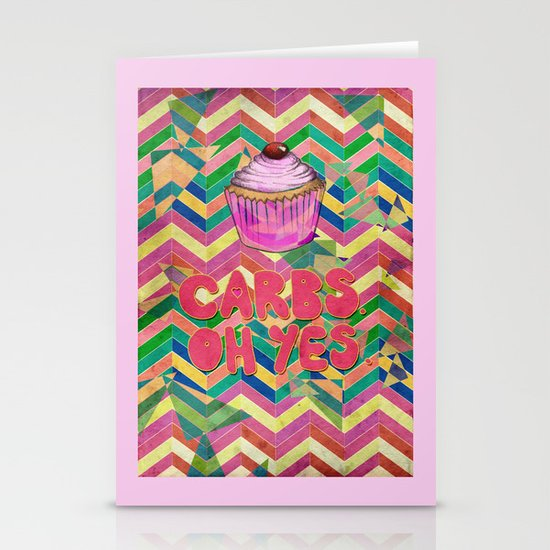 Carbs. Oh yes.  Stationery Cards