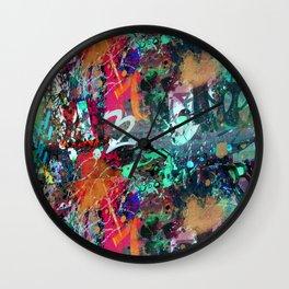 Graffiti and Paint Splatter Wall Clock
