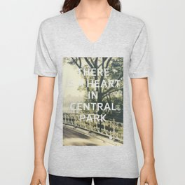 New York (There is a Heart in Central Park) Unisex V-Neck