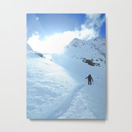 Mountain photography / Mountain & Snow Poster Metal Print