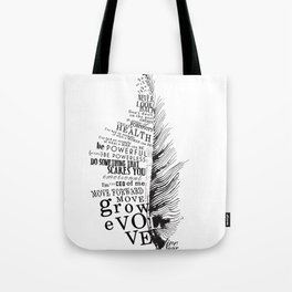 Inspirational Feather Tote Bag