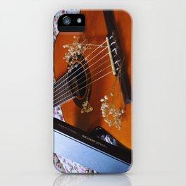 Book and guitar by Giada Ciotola iPhone Case
