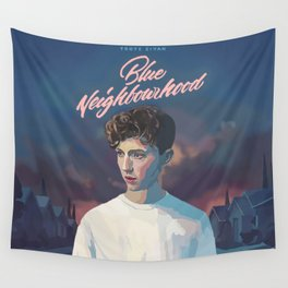 Blue Neighbourhood Wall Tapestry