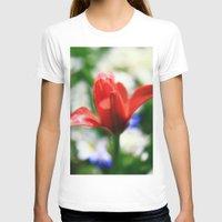 tulips T-shirts featuring tulips by Falko Follert Art-FF77