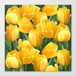 Yellow Tulips Field Canvas Print