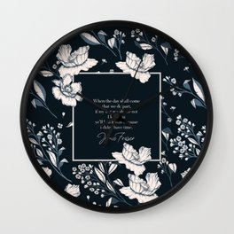 When the day shall come that we do part... Jamie Fraser Wall Clock