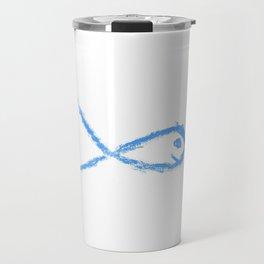 Ichthys 5 Chalk version. Travel Mug