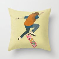 mcfly Throw Pillows featuring McFly by Danny Haas