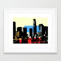 los angeles Framed Art Prints featuring Los Angeles by Amy Smith - ColorScape
