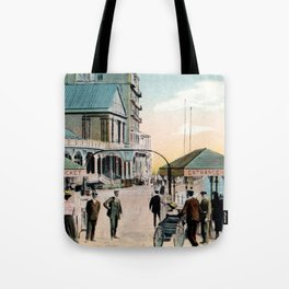 Pier Gates Llandudno Wales 1890 Tote Bag