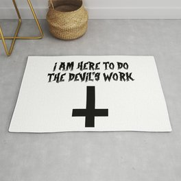 I'm here to do the devil's work - Best halloween gift 2019 Rug