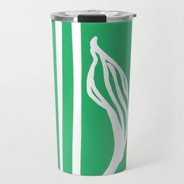 Long Leaf Stripe green Travel Mug