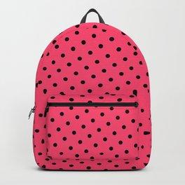 Pastel Goth Pastel Pink Retro Polka Dot (Black) Backpack