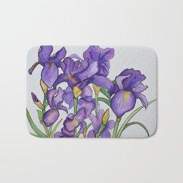 Pretty Purple Petals Bath Mat
