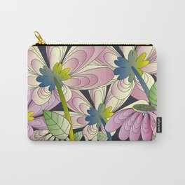 Daisy Floral Pattern 3 Carry-All Pouch