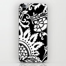 damask in white and black iPhone & iPod Skin