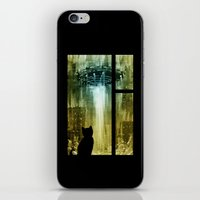 ufo iPhone & iPod Skins featuring UFO by Bakal Evgeny