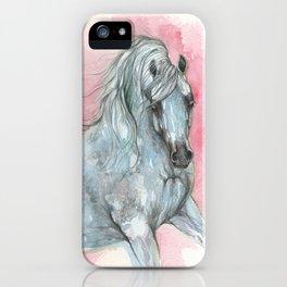 arabian horse on pink background iPhone Case