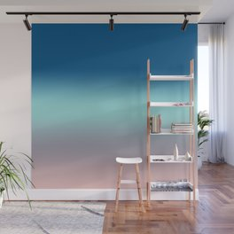 Rose Quartz Lilac Gray Limpet Shell Snorkel Blue Ombre Wall Mural