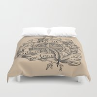 "not all those who wander are lost Duvet Covers featuring ""Not all those who wander are lost"" by Rose24601"