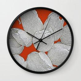 WHITE TULIPS Wall Clock