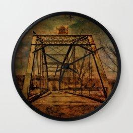 1897 Bridge over Neversink River Wall Clock