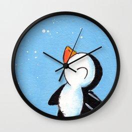 Flakey Flurry Wall Clock