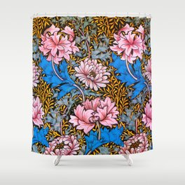 12,000pixel-500dpi - William Morris - Florists Daisy, Chrysanthemum - Digital Remastered Edition Shower Curtain