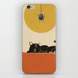 Spider came down iPhone Skin